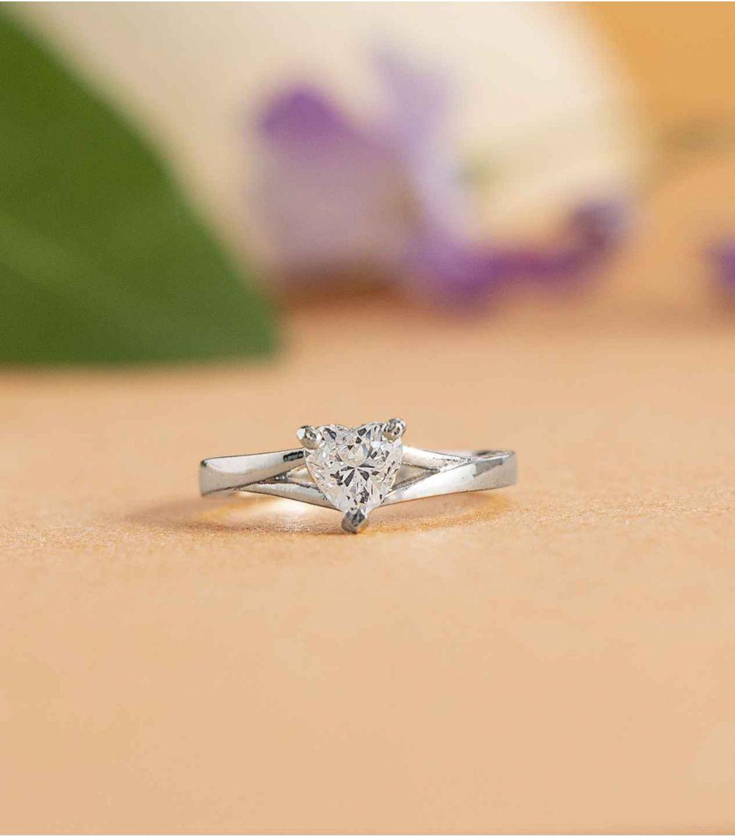 Silver Stone Finger Ring FJ1647787