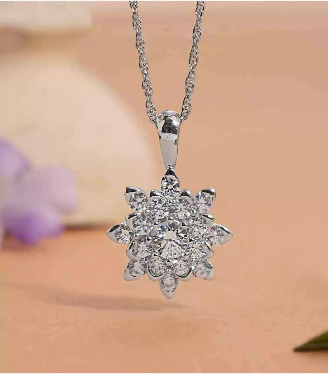 Silver Stone Chain Pendant FJ1647791