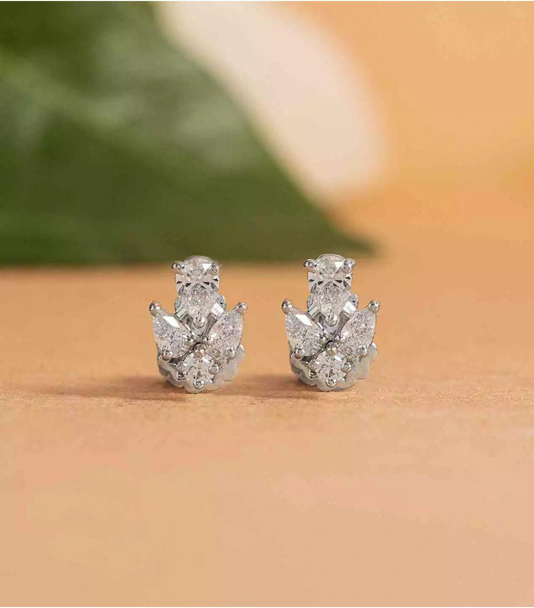 Silver Stone earrings FJ1648913