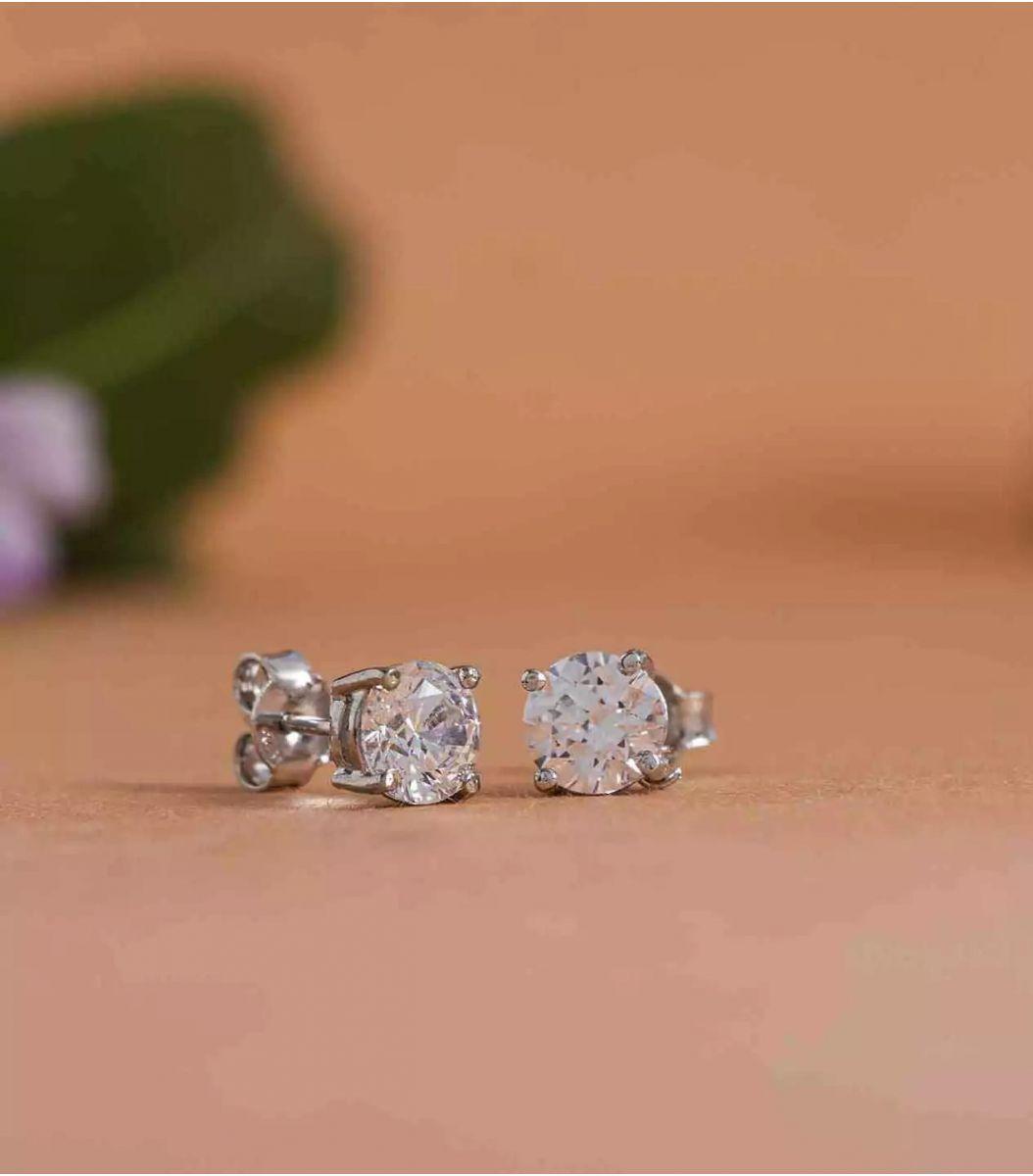 Silver Stone earrings FJ1648923