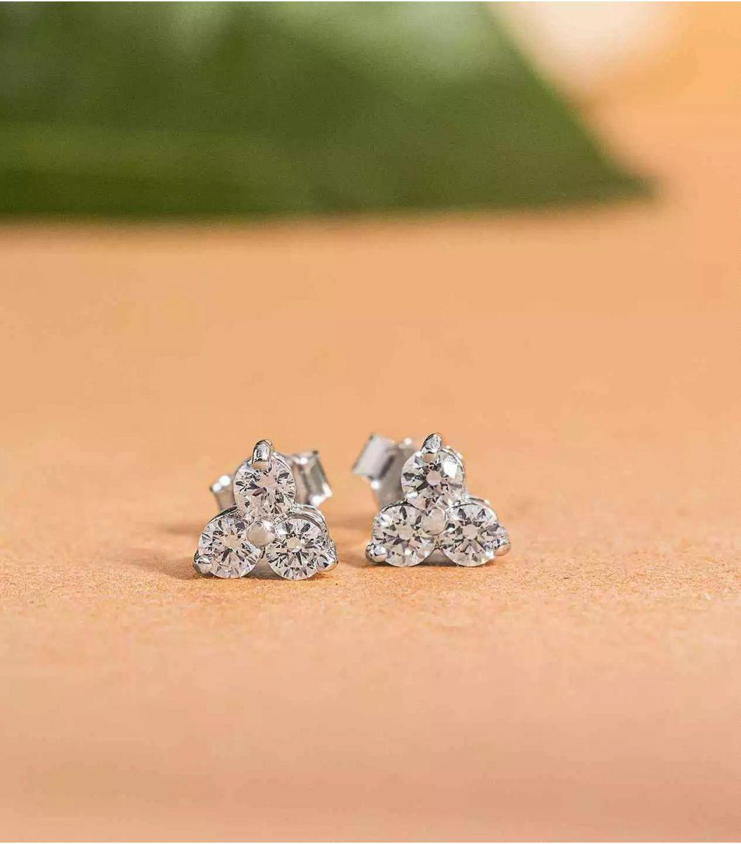 Silver Stone earrings FJ1648969