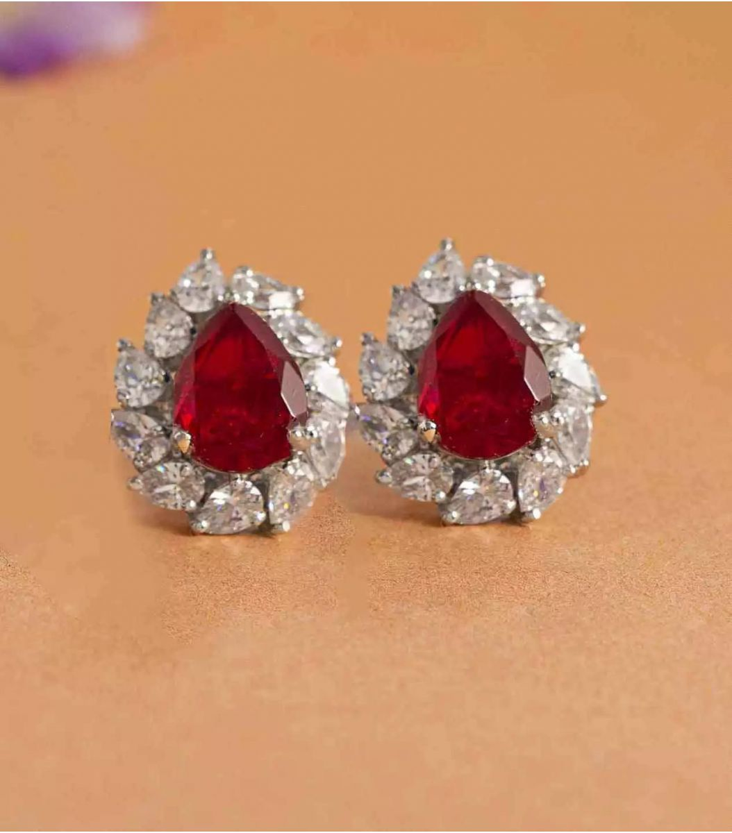 Silver Stone earrings FJ1648971
