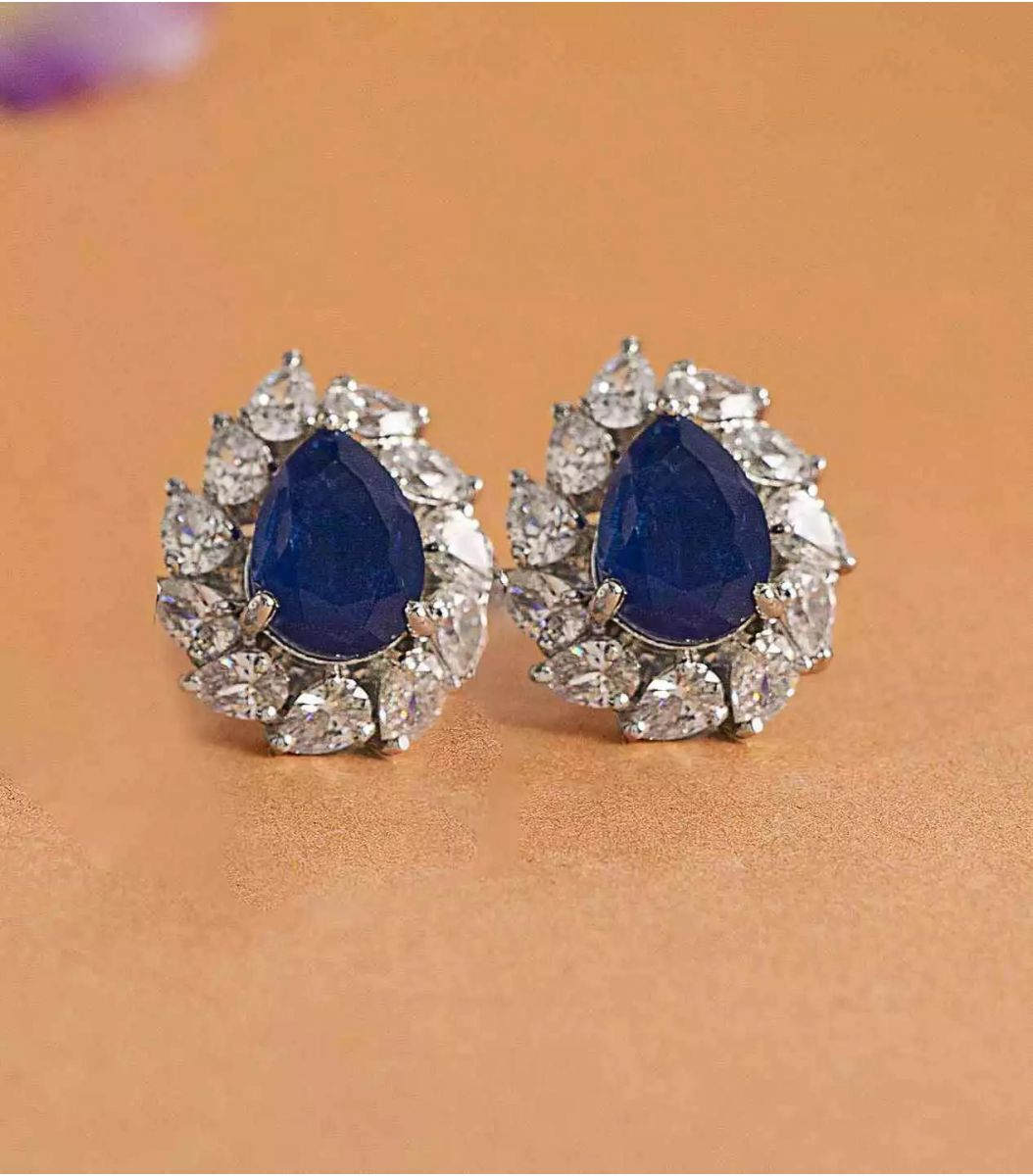 Silver Stone earrings FJ1648972
