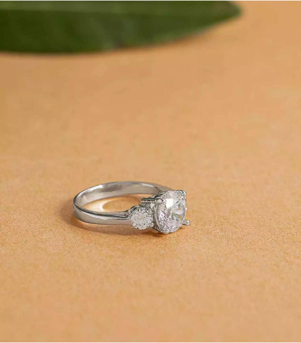 Silver Stone Finger Ring FJ1660227