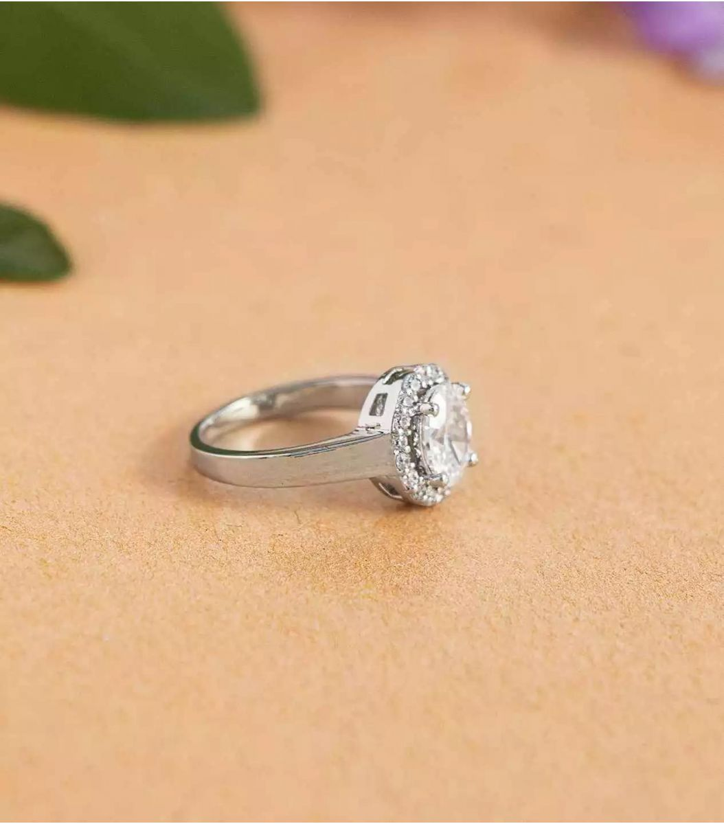 Silver Stone Finger Ring FJ1660244
