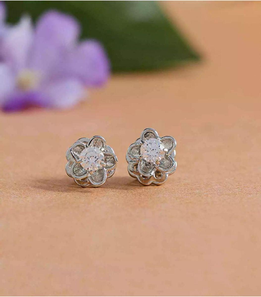 Silver Stone earrings FJ1660299