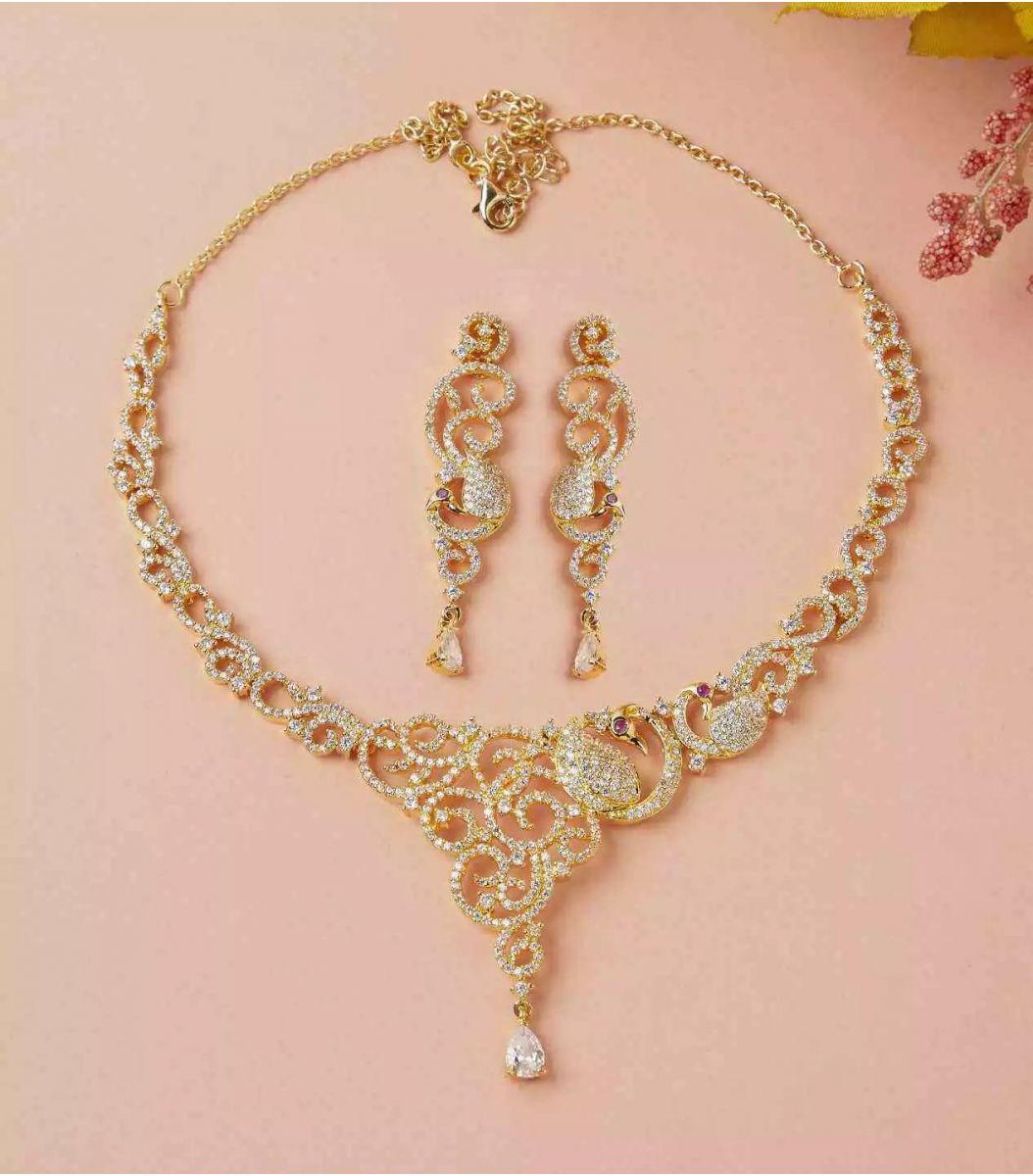 Silver Gold Polish Necklace FJ1660582