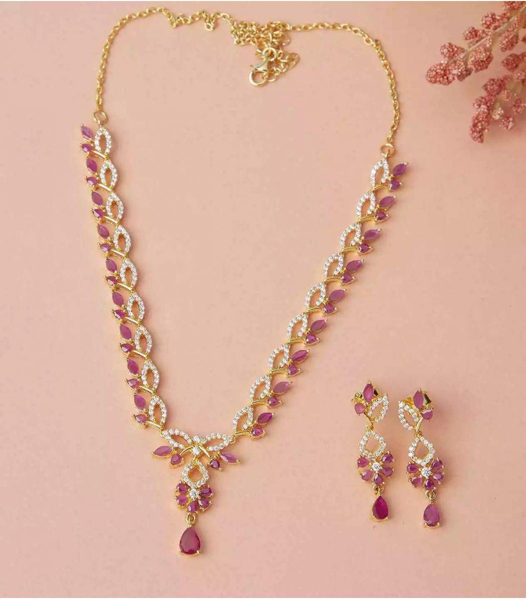 Silver Gold Polish Necklace FJ1660715