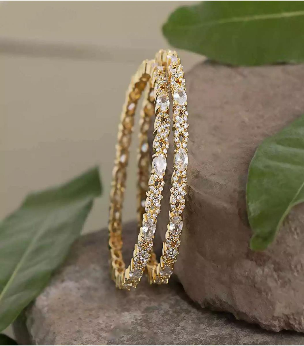 Silver Bangles (Gold Polish) fj1672213