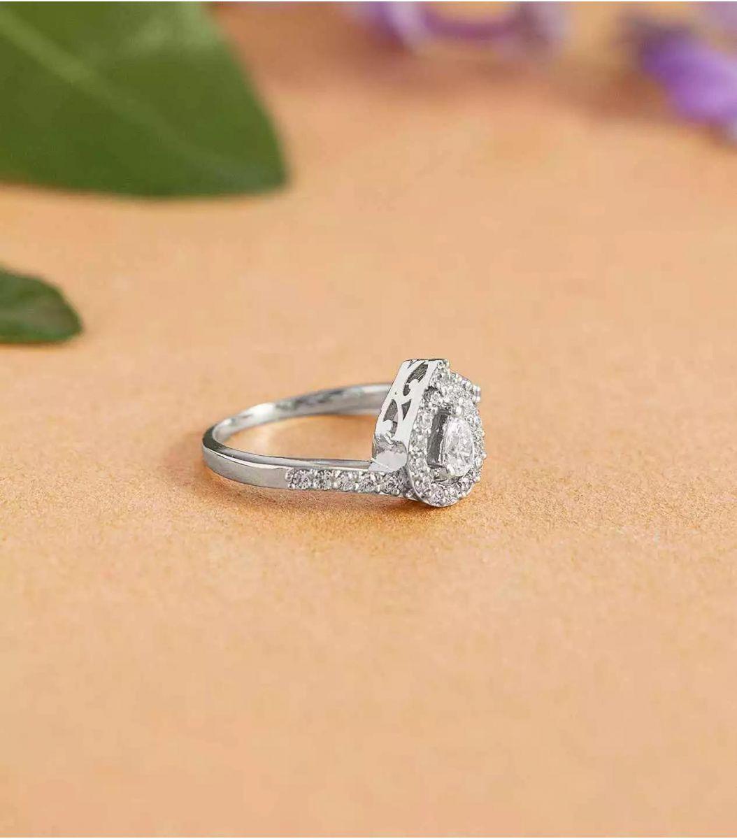 Silver Stone Finger Ring FJ1672436