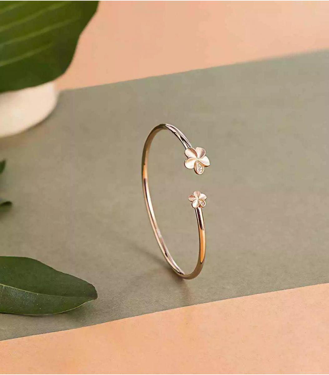 Silver Rose Polish Bracelet-FJ1711982