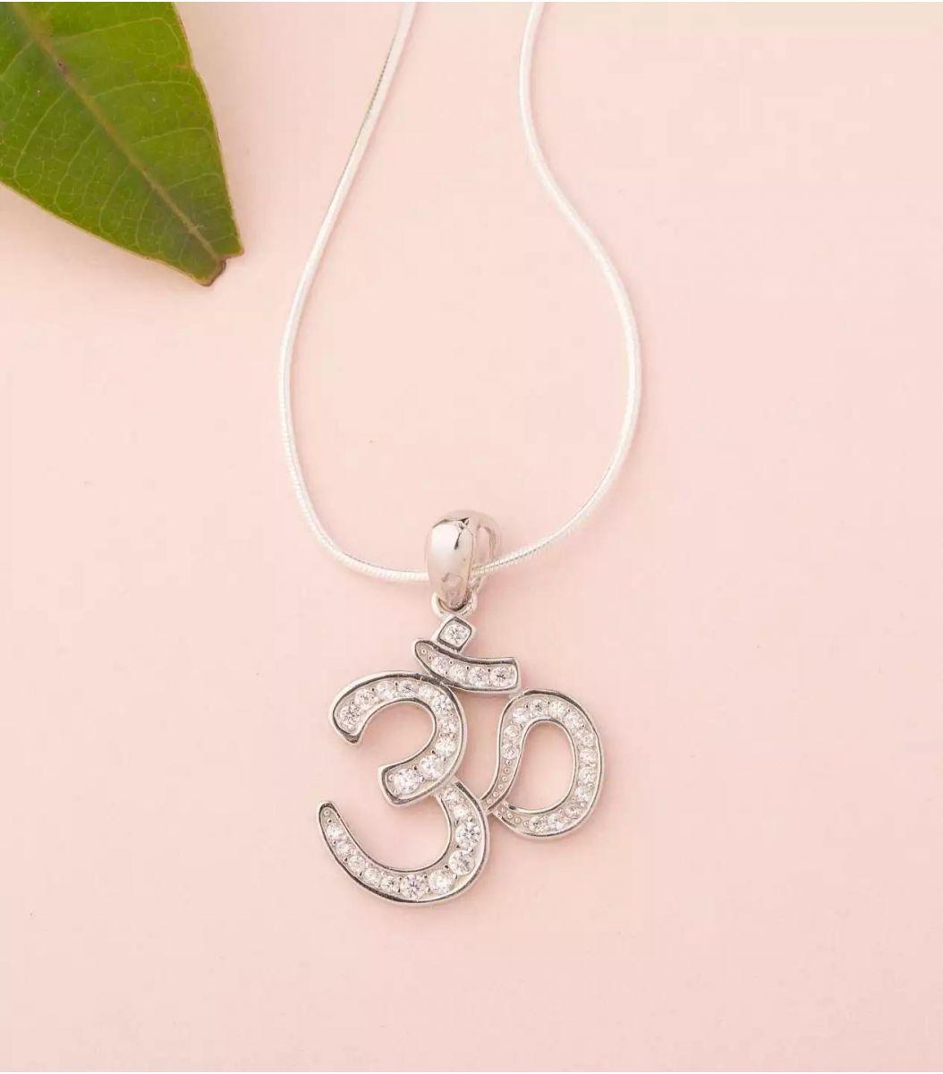 Silver Fancy Chain Pendant Set Fj1779722