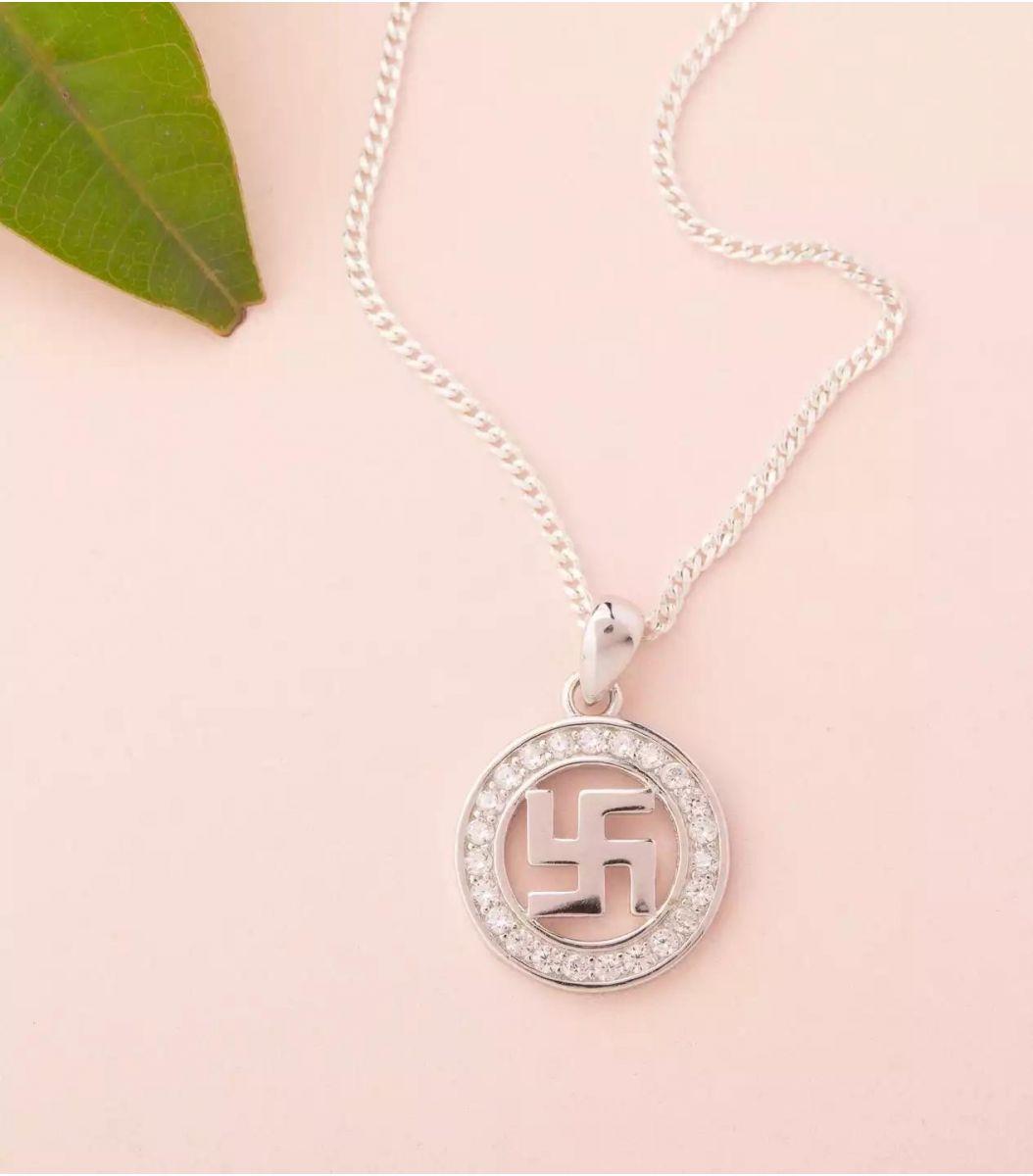 Silver Fancy Chain Pendant Set Fj1779728