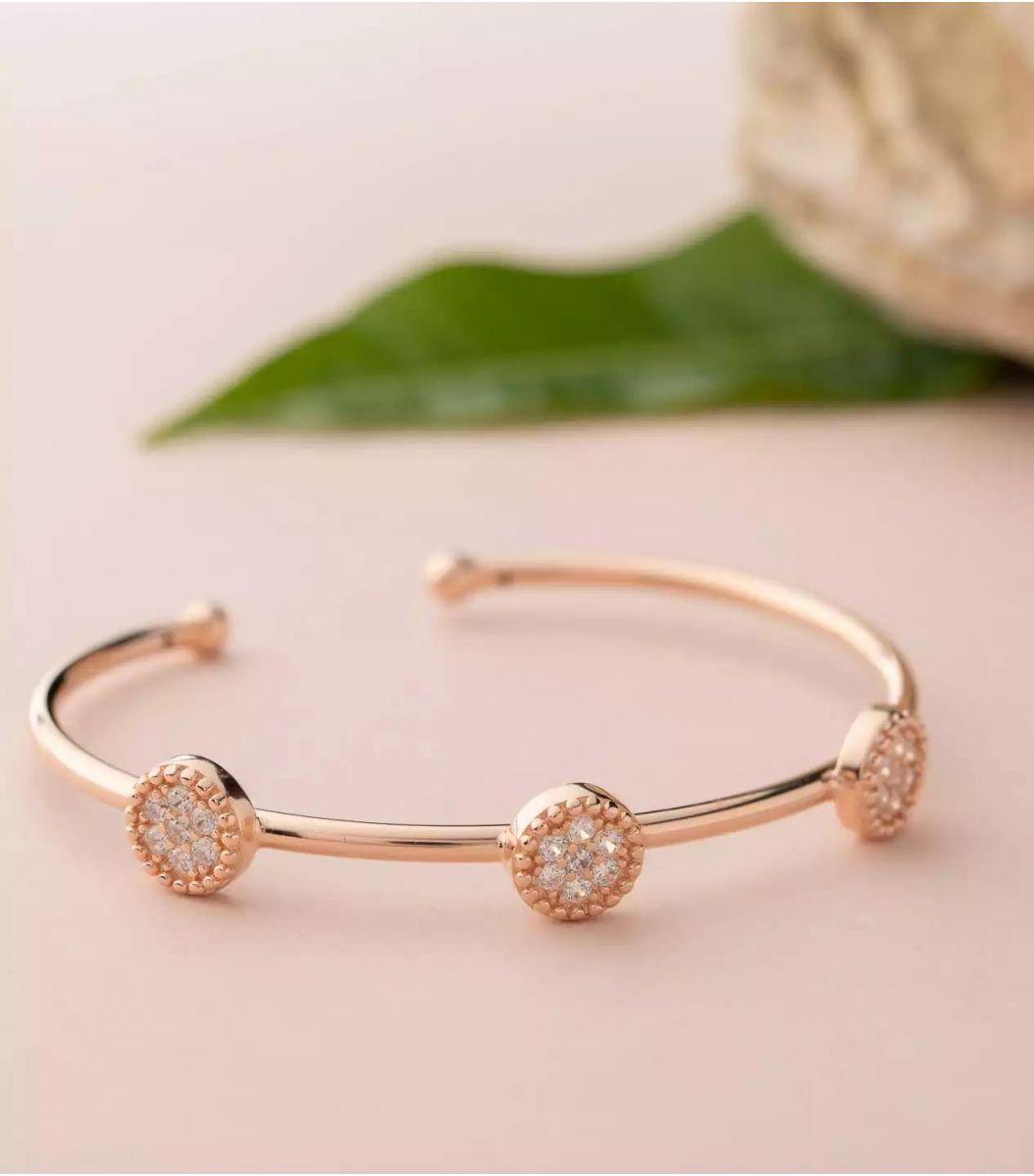 Silver Fancy Bracelet (Rose Polish) FJ1799457