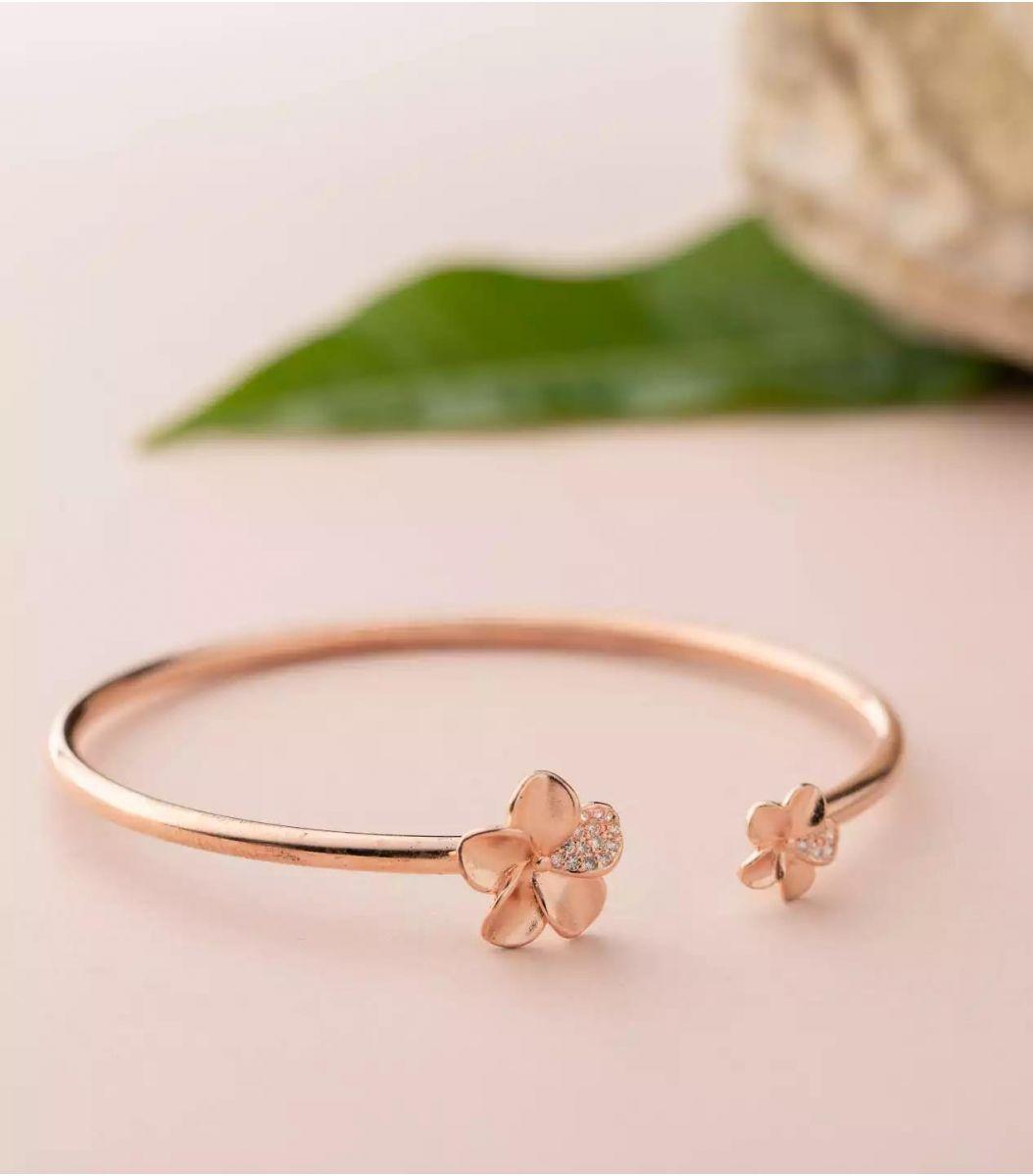 Silver Fancy Bracelet (Rose Polish) FJ1799526