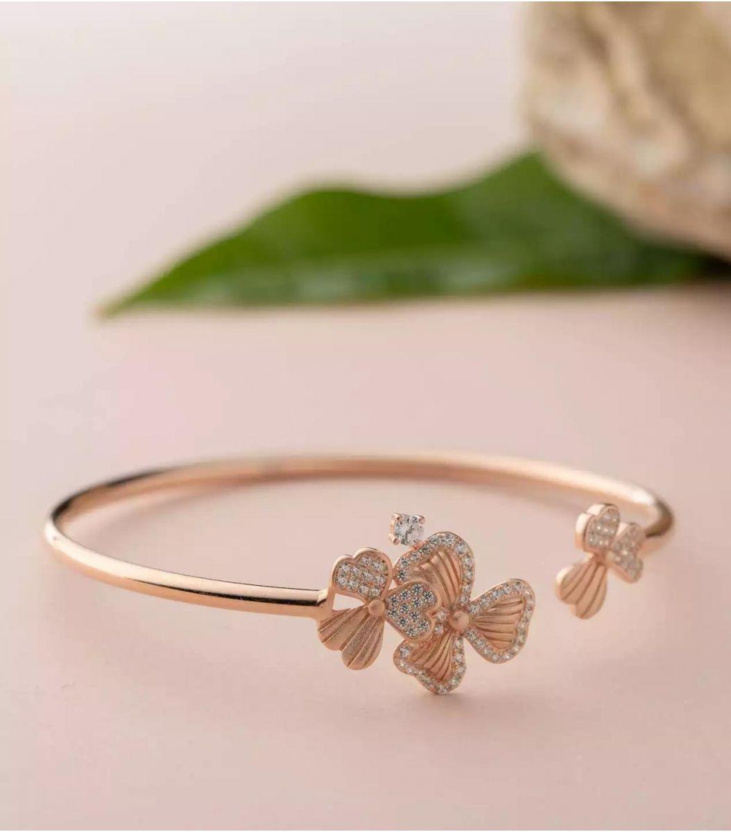 Silver Fancy Bracelet (Rose Polish) FJ1799591