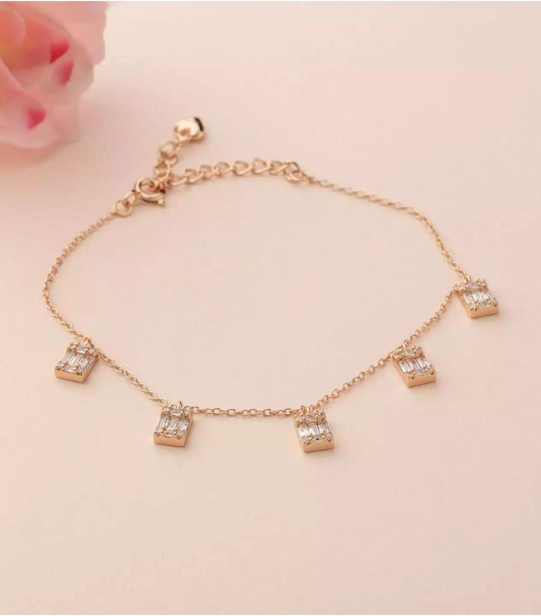 Silver Fancy Bracelet (Rose Polish) FJ1799694