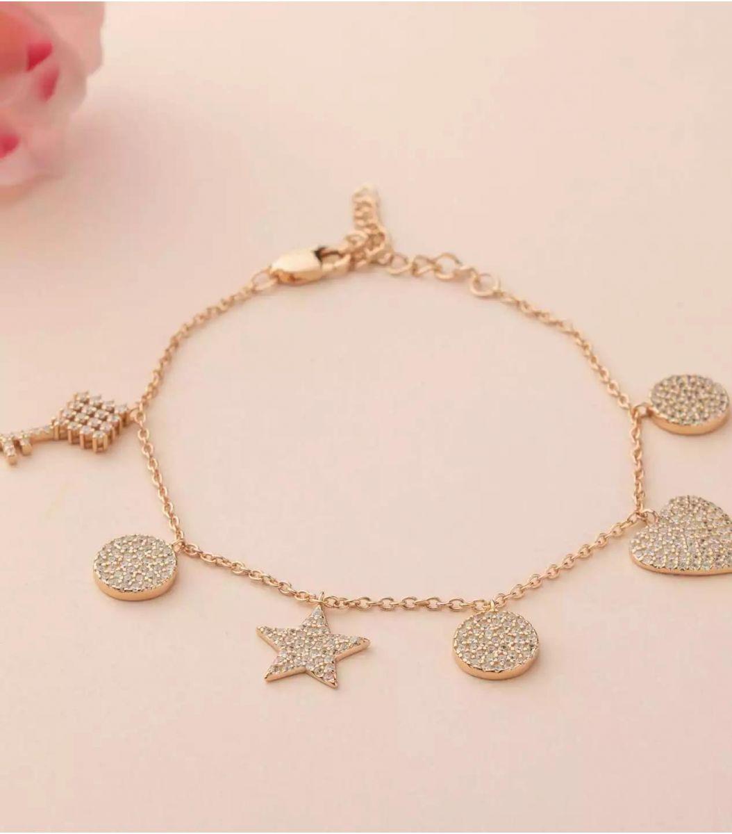 Silver Fancy Bracelet (Rose Polish) FJ1799714