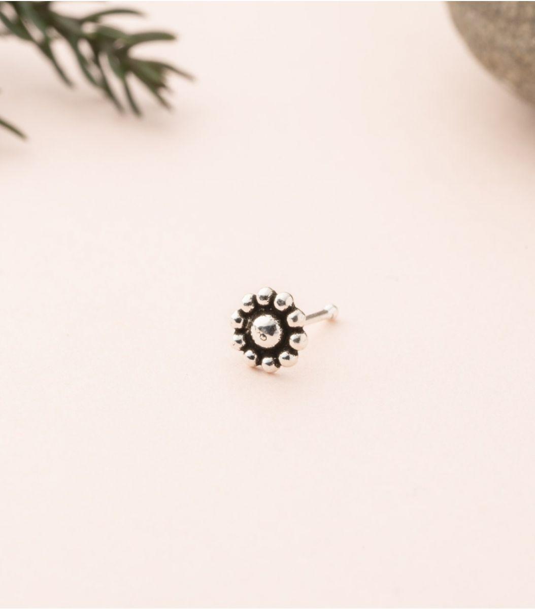 Silver Antique Nose Pin