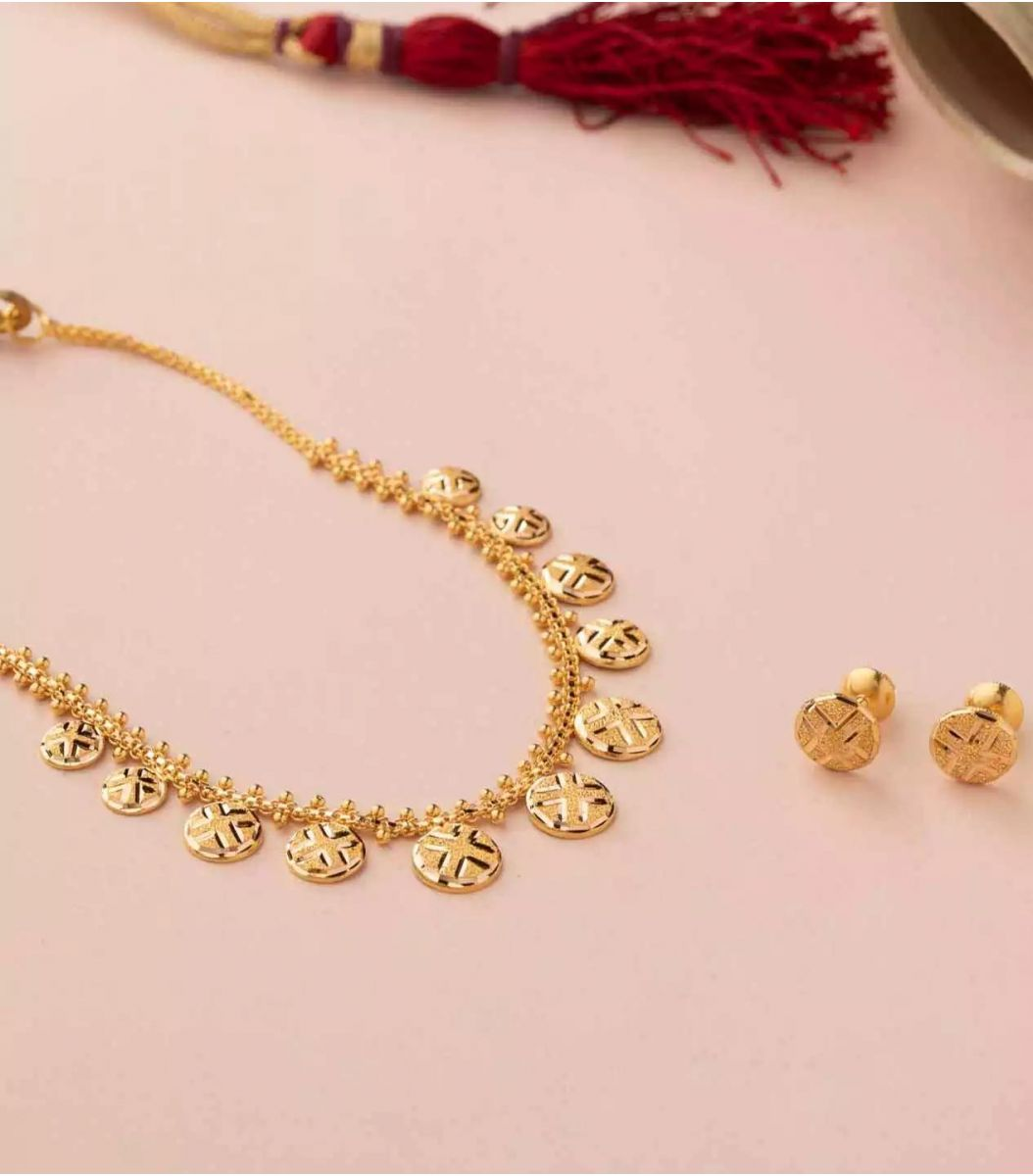 Gold Necklace-NEL927108