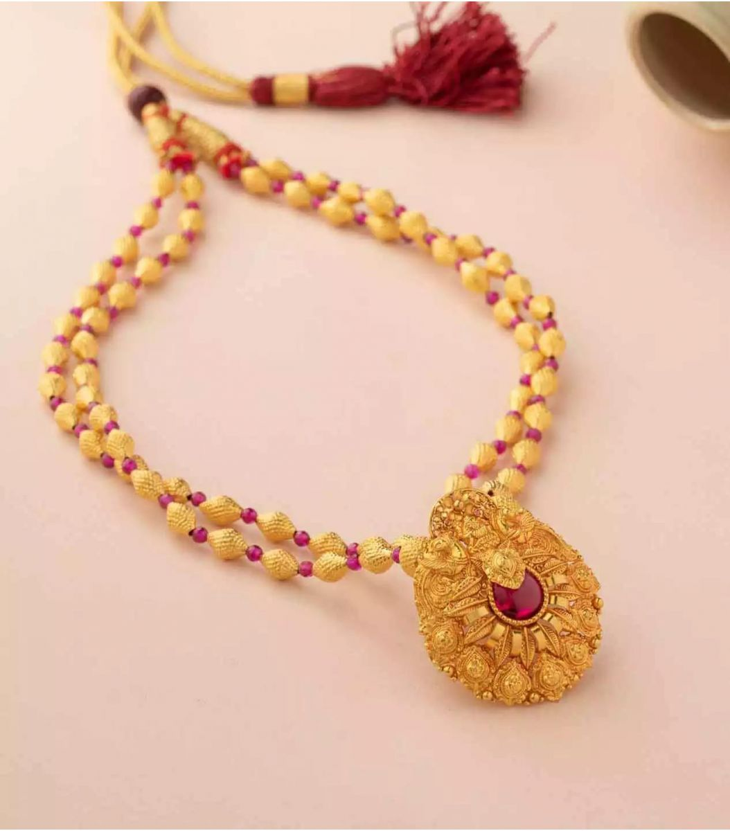 Gold Necklace-NEL927923